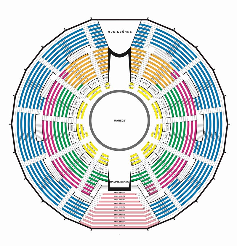 Sitzplan Krone Bau München