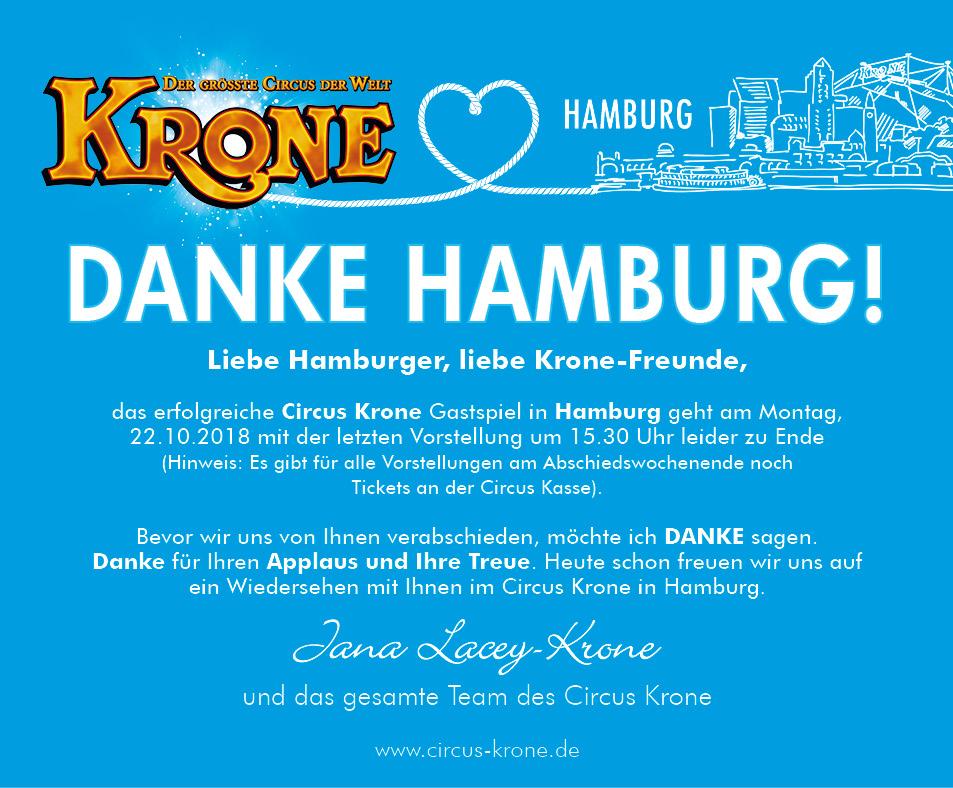 Circus Krone Danke Hamburg